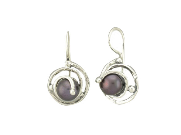 Pearl Scroll Earrings-0