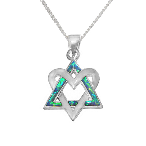 Dalit Opal Star of David Necklace -0