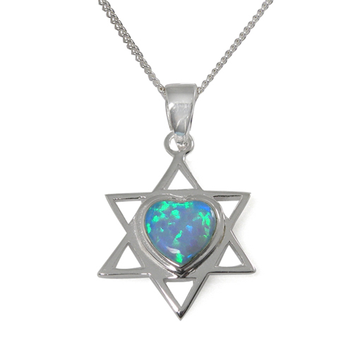 Naomi Opal Star of David Necklace -0