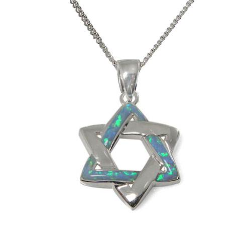 Orna Opal Star of David Necklace -0