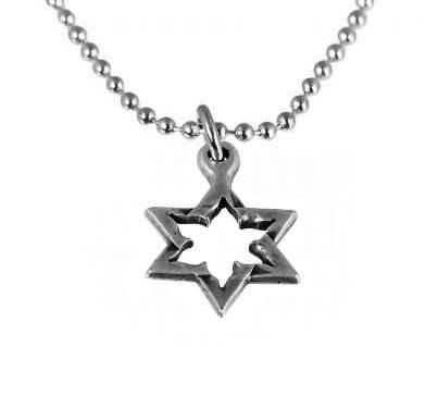 Star of David Rocket Necklace-0