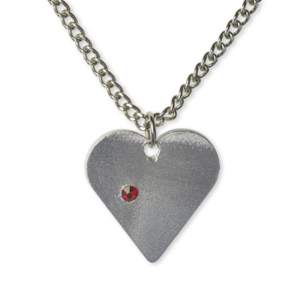 Iron Dome Heart Necklace