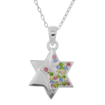 Moriah Star of David Peace Crystal Necklace -0
