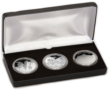 Jerusalem Embassy 3-Coin Set - 1 oz Silver-2585
