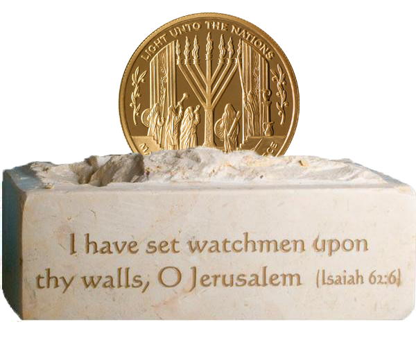 Maccabee Miracle Coin - Golden Bronze with Stand -0