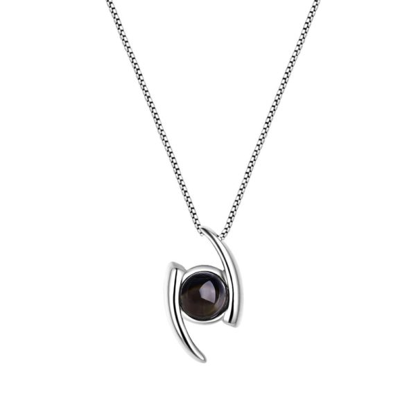 Abstract Eye Hidden Prayer Nano Necklace